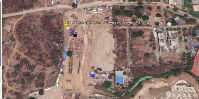 Water-Body in Puppulguda village, Rajendranagar Mandal Missing in the HMDA Database and Dumped-On To Manufacture Land.