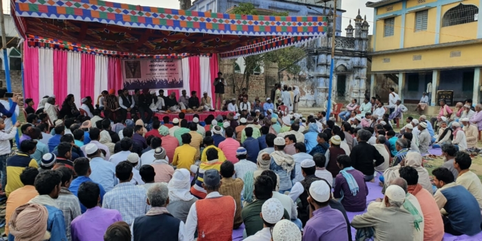 संविधान बचाओ-नागरिकता बचाओ-भारत बनाओ यात्रा 5वें दिन नारायणपुर/ बिहपुर/खरीक में