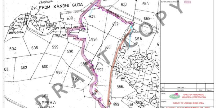 Notice to Deputy Executive Engineer Regarding Amphitheatre Inside FTL of Kapra Cheruvu